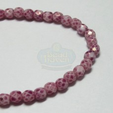 3mm Firepolish Fuchsia Stone