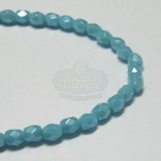 3mm Firepolish Sky Blue Luster