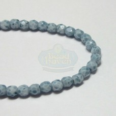 3mm Firepolish Denim Blue Stone