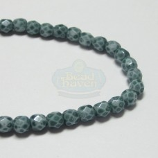3mm Firepolish Sea Blue Stone