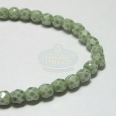 3mm Firepolish Cucumber Stone Luster