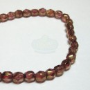 4mm Firepolish Luster Rose/Gold Topaz