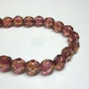 6mm Firepolish Luster Rose/Gold Topaz
