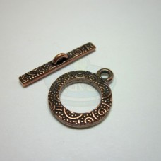 Antique Copper Spiral Toggle