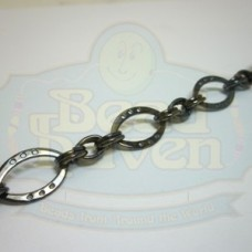 Gunmetal Flat Football w/Links Chain