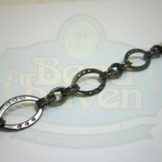 Gunmetal Flat Football w/Links Chain