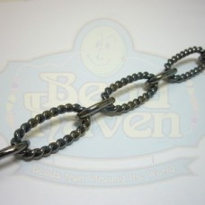 Gunmetal Large Rope Oval Chain