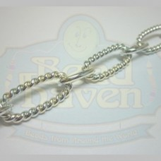 Silver Large Rope Oval Chain