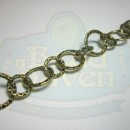 Antique Brass Medium Round Hammered Chain