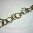 Antique Brass Medium Round Hammered Chain