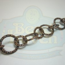 Antique Copper Medium Round Hammered Chain