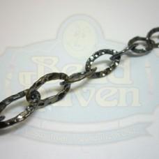 Gunmetal Medium Hammered Oval Chain