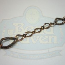 Antique Copper Large w/Small Curb Chain