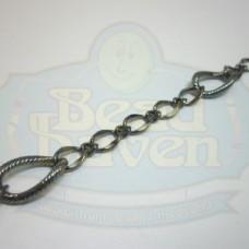 Gunmetal Large w/Small Curb Chain