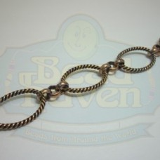 Antique Copper Large Twist Oval Link Chain