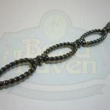 Gunmetal Medium Oval Rope Chain