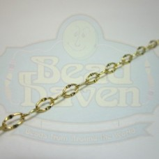Gold Small Hammered Cable Chain