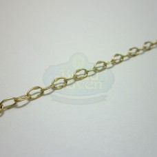 Matte Gold Small Hammered Cable Chain