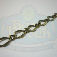 Antique Brass Large Curb Link Chain
