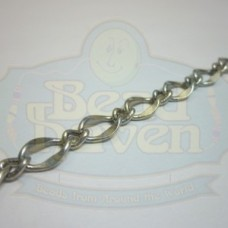 Antique Silver Large Curb Link Chain