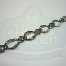 Gunmetal Large Curb Link Chain