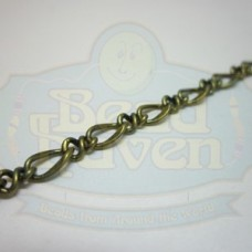 Antique Brass Curb Chain w/Link