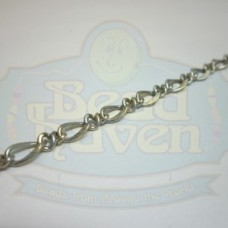 Antique Silver Curb Chain w/Link