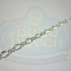 Silver Curb Chain w/Link