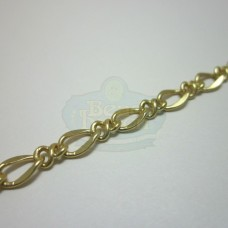 Matte Gold Large Curb Link Chain