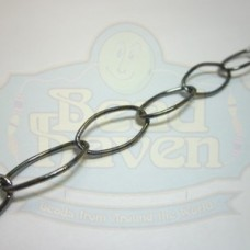 Gunmetal Large Thin Oval Chain