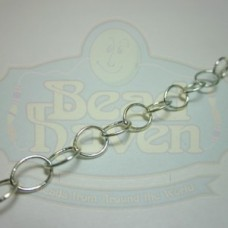 Silver Large Thin Oval Chain