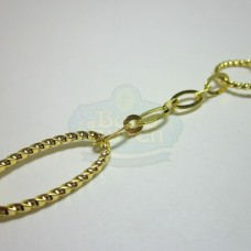 Gold Fancy Large Link Cable Chain