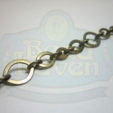 Antique Brass Flat Link Chain