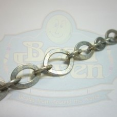 Antique silver Flat Link Chain