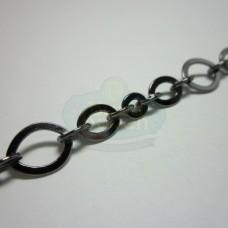 Gunmetal Flat Link Chain