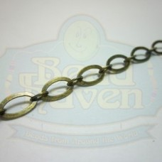 Antique Brass Flat Oval Chain