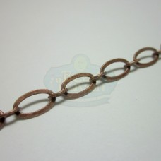 Antique Copper Flat Oval Chain