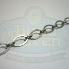Antique Silver Flat Oval Chain