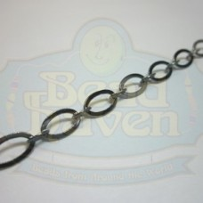 Gunmetal Flat Oval Chain
