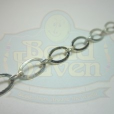 Silver Flat Oval Chain