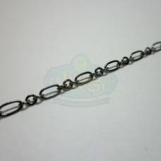 Gunmetal Tiny Long and Short Chain
