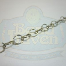 Antique Silver Medium Thin Cable Chain