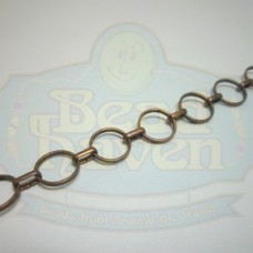 Antique Copper Circle Link Chain