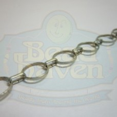 Antique Silver Circle w/Small Link Chain