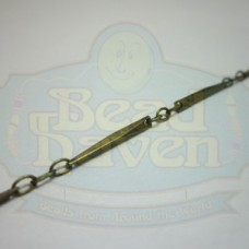 Antique Brass Faceted Bar Chain