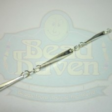 Silver Faceted Bar Chain