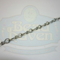 Antique Silver Fancy Tiny Chain