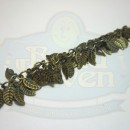 Antique Brass Leaf Fringe Chain