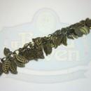 Antique Brass Leaf Fringe Chain