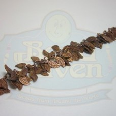 Antique Copper Leaf Fringe Chain